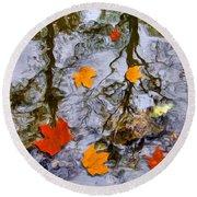 Autumn Round Beach Towel by Daniel Janda