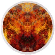 Autumn Glory Round Beach Towel