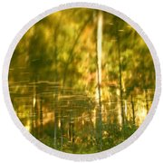 Autumn Reflections In Tennessee Round Beach Towel