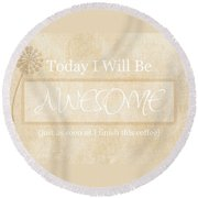 Awesome After Coffee Round Beach Towel