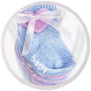 Baby Socks Round Beach Towel