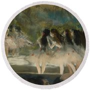 Ballet At The Paris Opera Round Beach Towel