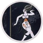 Ballet Scene With Tamara Karsavina Round Beach Towel