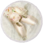 Ballet Shoes Round Beach Towel