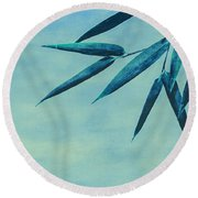 Bamboo - Blue Round Beach Towel