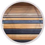 Bamboo Mat Texture Round Beach Towel