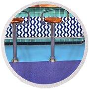 Bar Stools Round Beach Towel