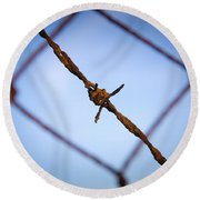 Barbed Wire Round Beach Towel