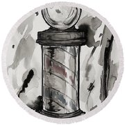 Barber Pole Round Beach Towel by The Styles Gallery