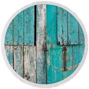 Barn Door Round Beach Towel by Tom Gowanlock