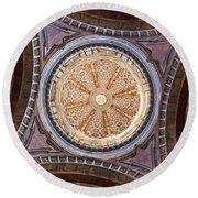 Baroque Church Cupola Dome Round Beach Towel