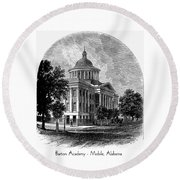Barton Academy - Mobile Alabama Round Beach Towel