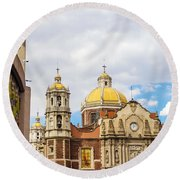 Basilica Of Our Lady Of Guadalupe Round Beach Towel