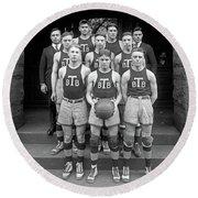 Basketball Team, 1920 Round Beach Towel