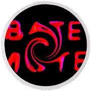 Bates Motel In Blood And Twisted Round Beach Towel