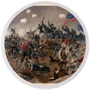 Battle Of Spottsylvania Round Beach Towel