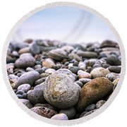 Beach Pebbles Round Beach Towel