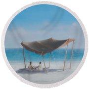 Beach Tent, 2012 Acrylic On Canvas Round Beach Towel