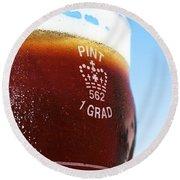 Beer Pint Glass Round Beach Towel
