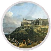 Bellotto's The Fortress Of Konigstein Round Beach Towel