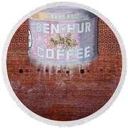 Ben Hur Coffee Round Beach Towel