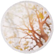 Beneath A Tree  14 5284  Diptych  Set 1 Of 2 Round Beach Towel