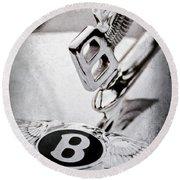 Bentley Hood Ornament - Emblem Round Beach Towel