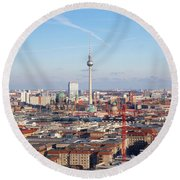 Berlin Cityscape Round Beach Towel
