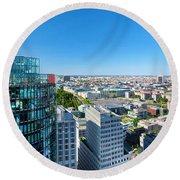 Berlin Panorama Round Beach Towel