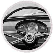Bianchina Steering Wheel Round Beach Towel
