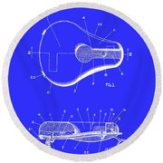Bicycle And Motorcycle Seat 1925 Round Beach Towel
