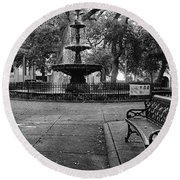 Bienville Square Round Beach Towel