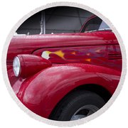 Big Red Two Round Beach Towel