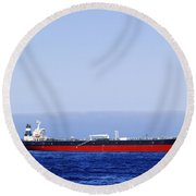 Big Ship Non Atlantic Ocean Round Beach Towel