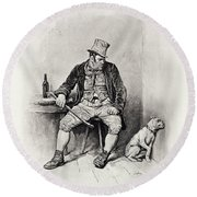 Bill Sykes And His Dog, From Charles Round Beach Towel