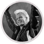 Billy Idol Round Beach Towel