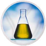 Biodiesel In Erlenmeyer Flask  Round Beach Towel