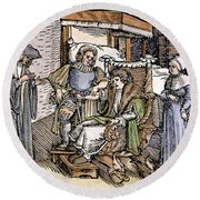 Bloodletting, 1540 Round Beach Towel