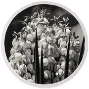 Blooms Within A Bloom 3 Round Beach Towel