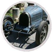 Blue Bugatti Oldtimer Round Beach Towel