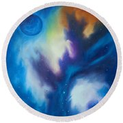 Blue Giant Round Beach Towel