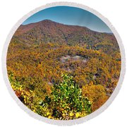 Blue Ridge Parkway Round Beach Towel