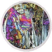 Blueschist Round Beach Towel