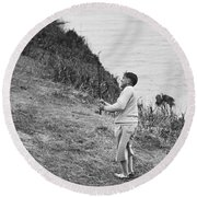 Bobby Jones At Pebble Beach Round Beach Towel