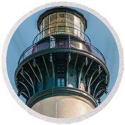 Bodie Island Lighthouse Obx Cape Hatteras North Carolina Round Beach Towel