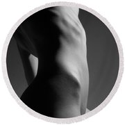 Bodyscape Round Beach Towel by Joe Kozlowski