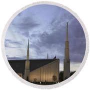 Boise - Mormon Temple Round Beach Towel