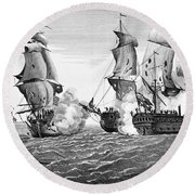 Bonhomme Richard, 1779 Round Beach Towel