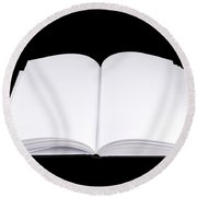 Book Isolated Round Beach Towel