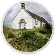 Breton Church Round Beach Towel